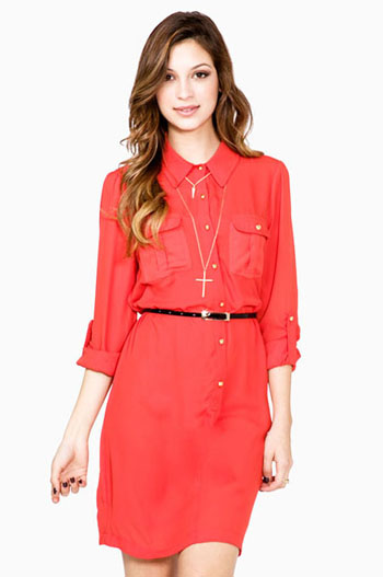 офисная одежда платье-рубашка