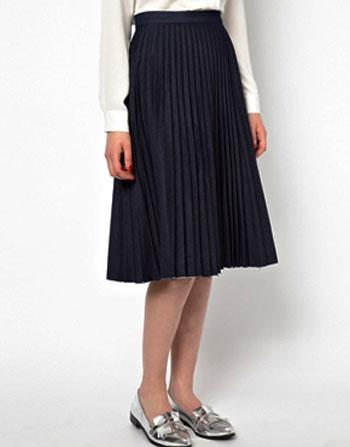 офисная одежда юбка с плиссировкой
