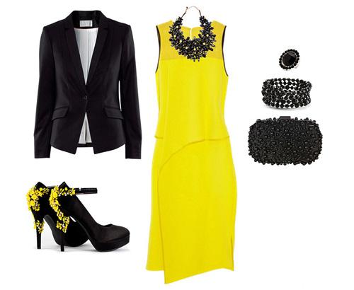 с чем носить желтый и черный