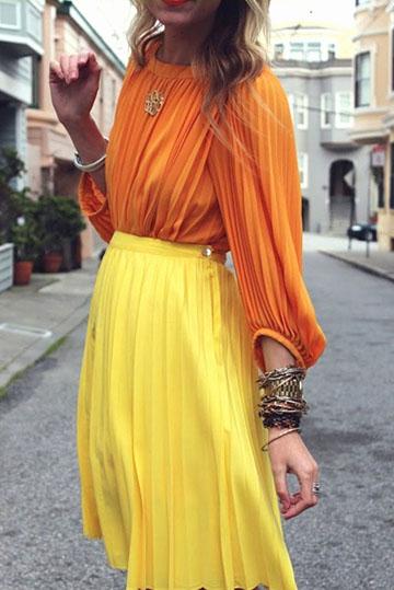 с чем носить желтый и оранжевый