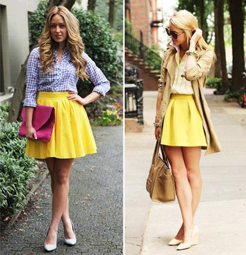 с чем носить желтый и рубашку