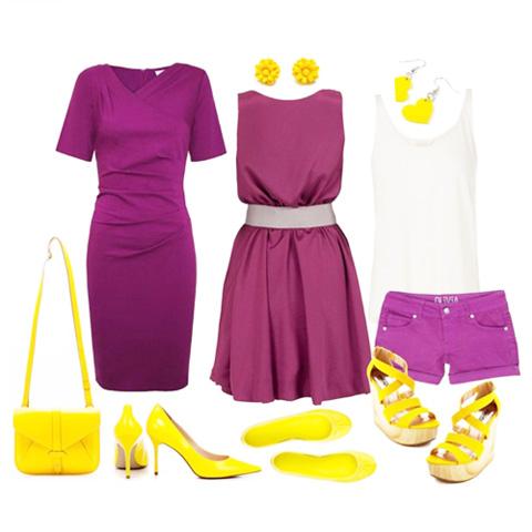 с чем носить желтый обувь
