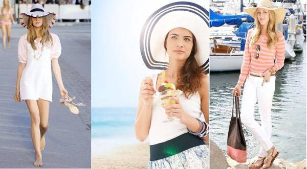 с чем носить шляпу с широкими полями на лето