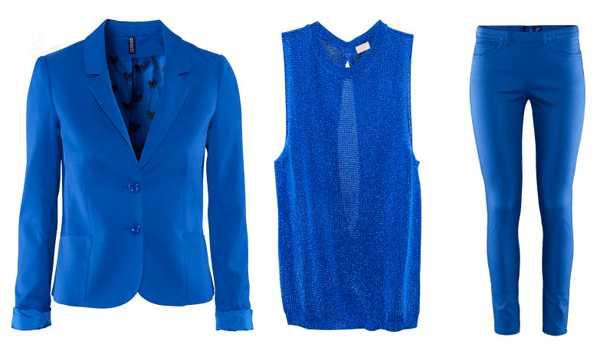 С чем носить синий?