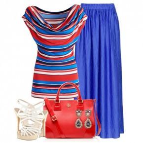 С чем носить синий