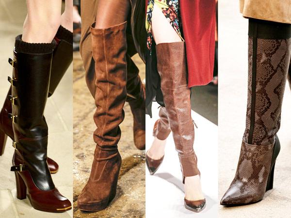 модная обувь осень 2014 ботфорты