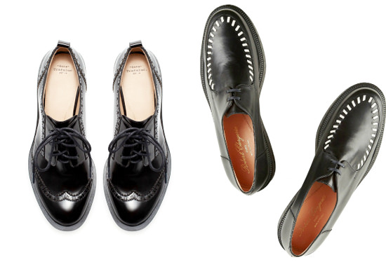 модная обувь осень 2014 туфли в мужском стиле