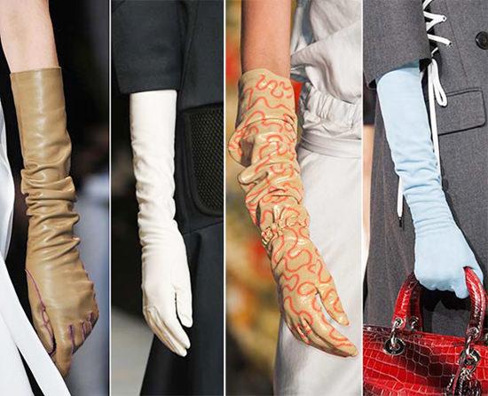 модные аксессуары осени 2014 перчатки