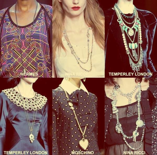 модные аксессуары осени 2014 бусы и подвески