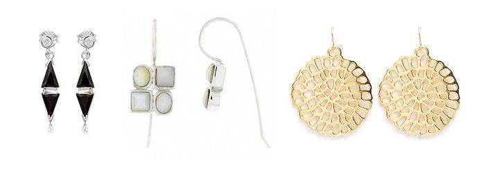 модные геометрические серьги 2014