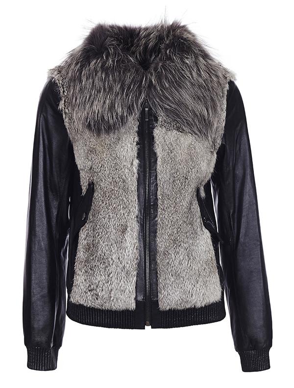 модные куртки осень-зима 2014-2015 кожа с мехом