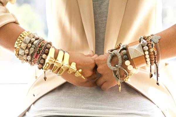 модные массивные браслеты 2014