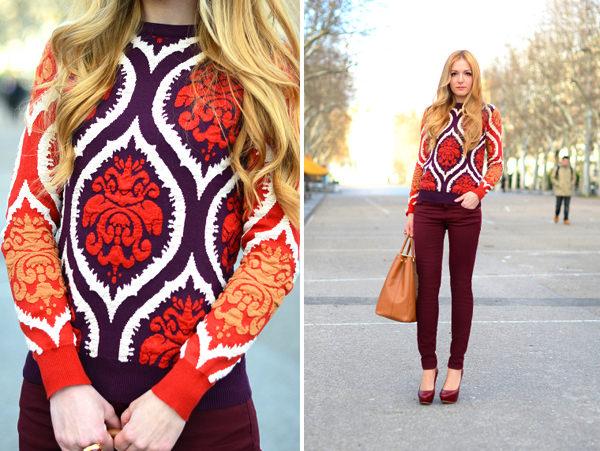 модные орнаменты осень-зима 2014-2015