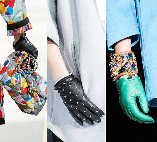 модные перчатки осень 2014