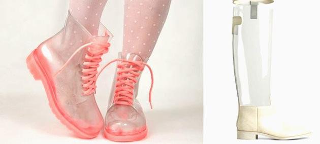 модные прозрачные сапоги 2014