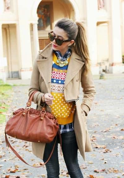 модные свитера с орнаментом