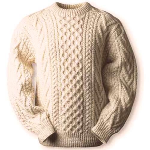 модные свитера аранское плетение