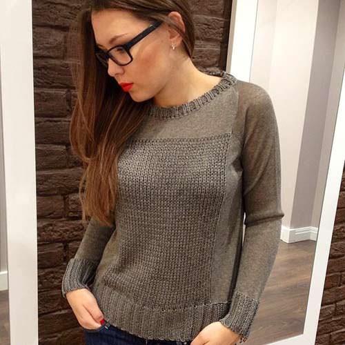 модные свитера на осень металлизированные