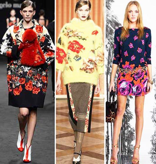 модные тенденции осени 2014 цветочный орнамент