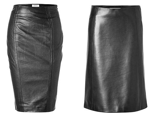модные тенденции осени 2014 кожаная юбка