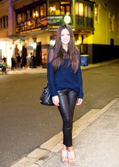 модные тенденции осени 2014 кожаные брюки