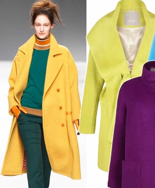 модное пальто осень 2014 с запахом