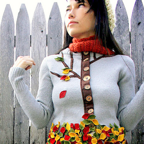 свитер с аппликацией