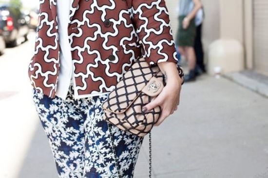 как модно сочетать принты