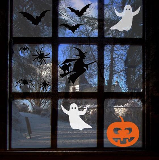 как праздновать Хэллоуин украсить окна