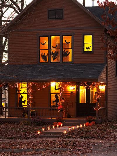 как праздновать Хэллоуин встреча гостей