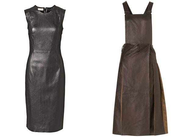 кожаные платья осень-зима 2014-2015