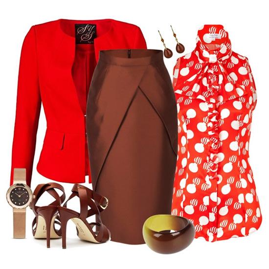 красный цвет в одежде 2014