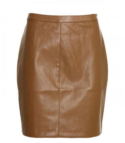 мини юбка-карандаш кожаная