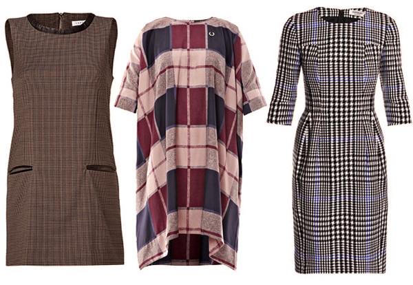 модная одежда 2014-2015 платья в клетку