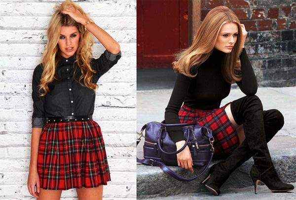 модная одежда шотландская клетка