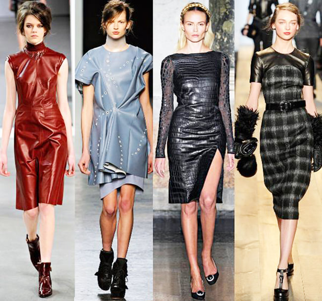 модные кожаные платья оригинальные