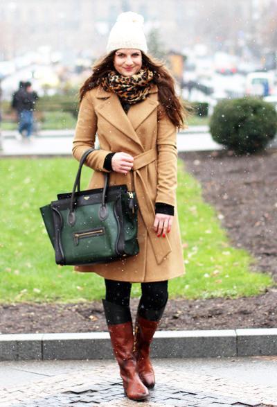 модные пальто песочного цвета 2014-2015