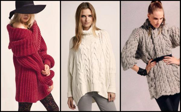 Модные вязанные свитера 2015