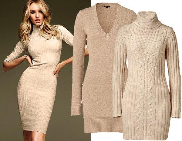модные вязаные платья 2014-2015