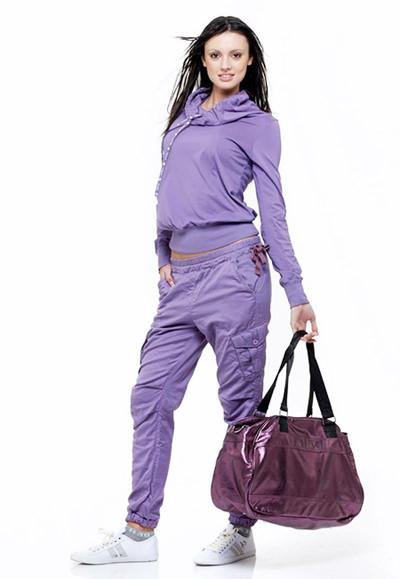 модные женские спортивные костюмы фиолетовый