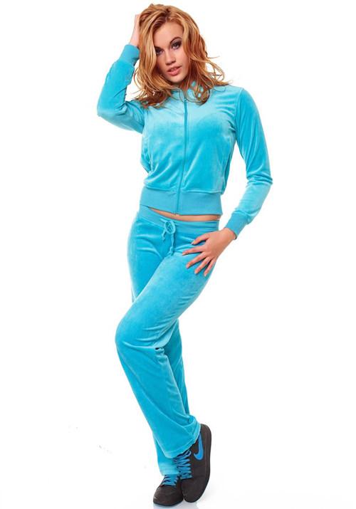 модные женские спортивные костюмы голубой