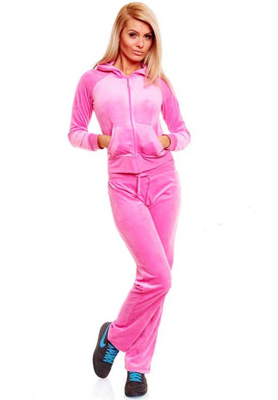 модные женские спортивные костюмы розовый теплый