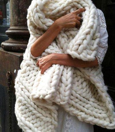 объемные шарфы 2014-2015