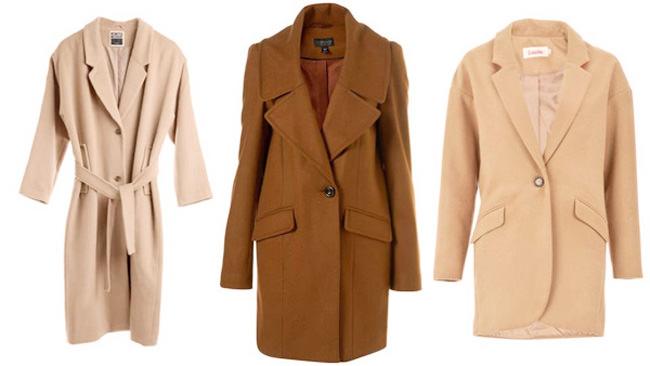 пальто песочного цвета мода 2014-2015
