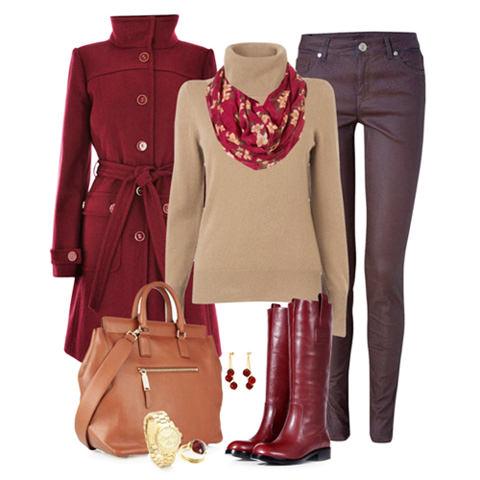 с чем носить коричневые брюки модные