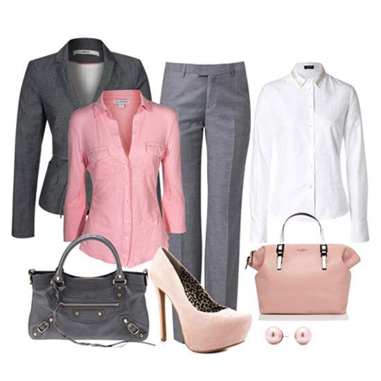 серый с розовым