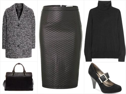 стеганая юбка мода 2014-2015