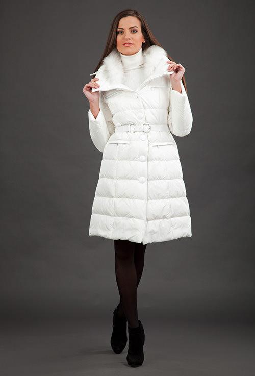 модные пуховики зима 2015 белые