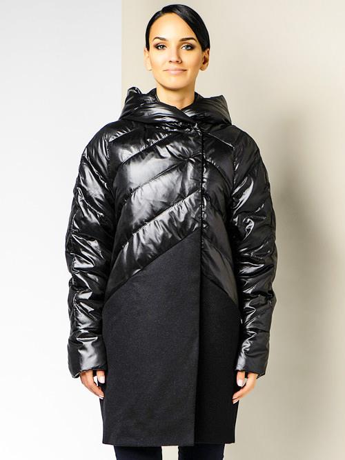 модные пуховики зима 2015 черный пуховик-пальто