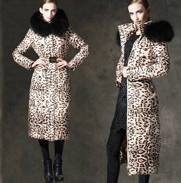 модные пуховики зима 2015 леопард